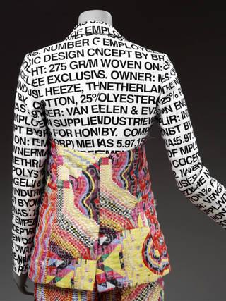 Trouser suit, Bruno Pieters for Honest By, 2017, Belgium © Victoria and Albert Museum, London